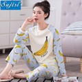 Elastic Waist Brand Maternity pijama suits For Pregnancy maternity clothes For Pregnant Women autumn Maternity pyjamas women set