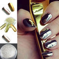1g caja de Espejo de Oro En Polvo de Pigmento De Plata Brillo de Uñas Nail Art Decoración Cromática