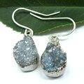 Jóia Da Forma Da mulher 2016 Estilo Vintage Silver-Plated Brincos de Presentes de Natal Mulheres Brincos de Pedra Natural