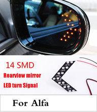 new 14SMD Lamp Arrow Panel Car Rear View Mirror Turn Signal Light For Alfa Romeo Disco Volante Giulietta GT GTV MiTo Spider