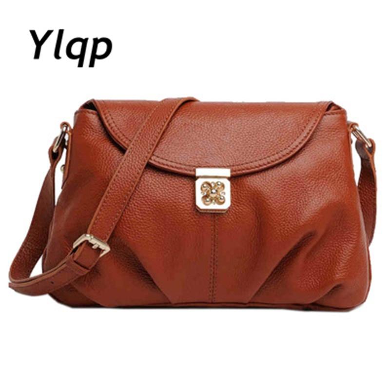2014 Spring Summer Women Vintage 100 Genuine Leather Handbag Messenger Bags High Quality Cowhide Shoulder Bag