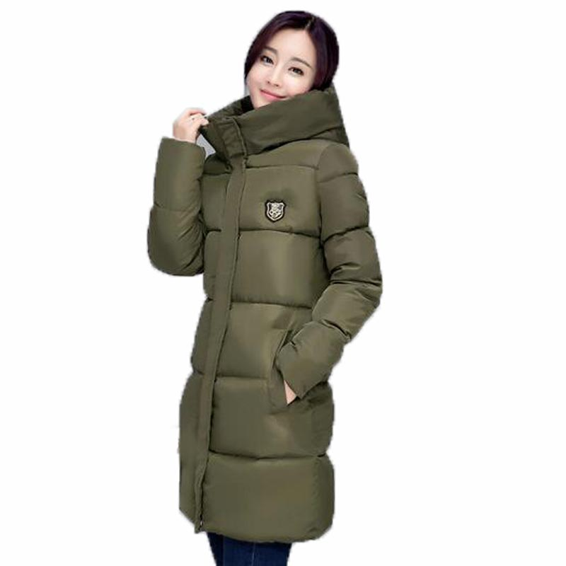 New 2017 Winter Coat Women Thickening Wadded Jacket Parkas Female Outerwear Casual Down Cotton Wadded loose Loog Coat QH0279 women winter down jacket coat wadded jacket middle age women thickening outerwear female down coat vestidos