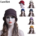 2016 New Fashion Woman's Warm Woolen Winter Hats for Women Skullies Beret Warm Cap With 12 kinds of Colors thick female HatT175