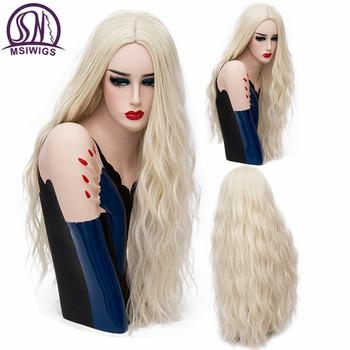 I #8222 sa peruka 70 CM długi różowy faliste peruki Cosplay naturalne syntetyczne kobiet #8221 s blond peruka 29 kolorów odporne na ciepło do włosów tanie i dobre opinie 1 sztuka tylko Falista Wysokiej Temperatury Włókna Żyłka Przezroczysty 150 Średnia wielkość MSIWIGS