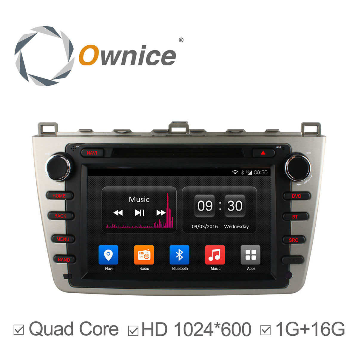 ownice quad core android4 4 car dvd gps for mazda 6 2008 2012 autoradio multimedia with wifi. Black Bedroom Furniture Sets. Home Design Ideas