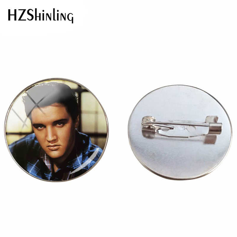 Baru Elvis Presley Kubah Cabochon Bros Bintang Terkenal Elvis Presley Kristal Bulat Gambar Perhiasan Kaca Cabochon Bros