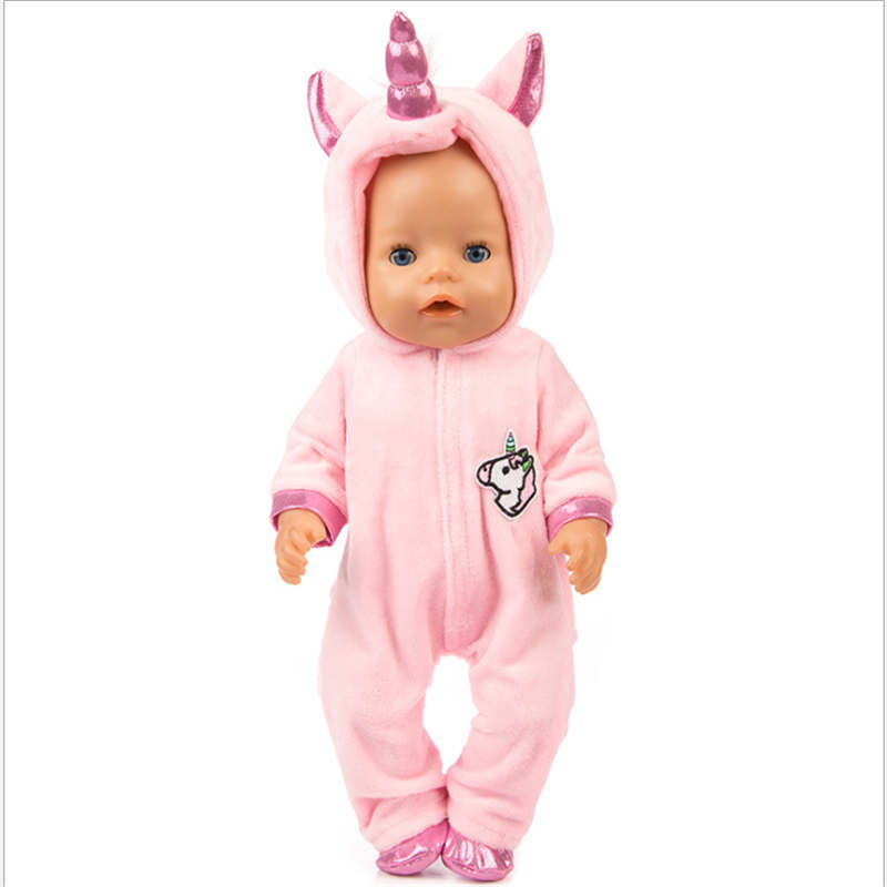 Image 3 - Fit 18 inch 43cm Doll Clothes Born Baby Unicorn Kitten and Pony Doll Clothes Suit For Baby Birthday Festival Gift-in Dolls Accessories from Toys & Hobbies