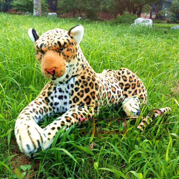 new big plush simulation leopard toy stuffed lifelike leopard doll gift about 108cm big lovely simulation cow plush toy creative stuffed cow doll birthday gift about 75cm
