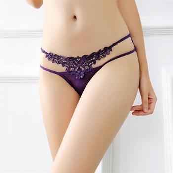 1PC Sexy Women Lady Embroidery Knickers Panty Underpants Briefs Thin Lace Thongs G-string Intimates Sleepwear