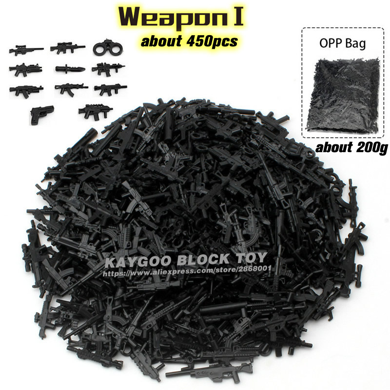 Building Blocks DIY Military Series Swat Police Gun Weapons Pack Army Brick Arms For City Police Batman Best Children Gift Toys pvc building blocks army field combat military escort weapons