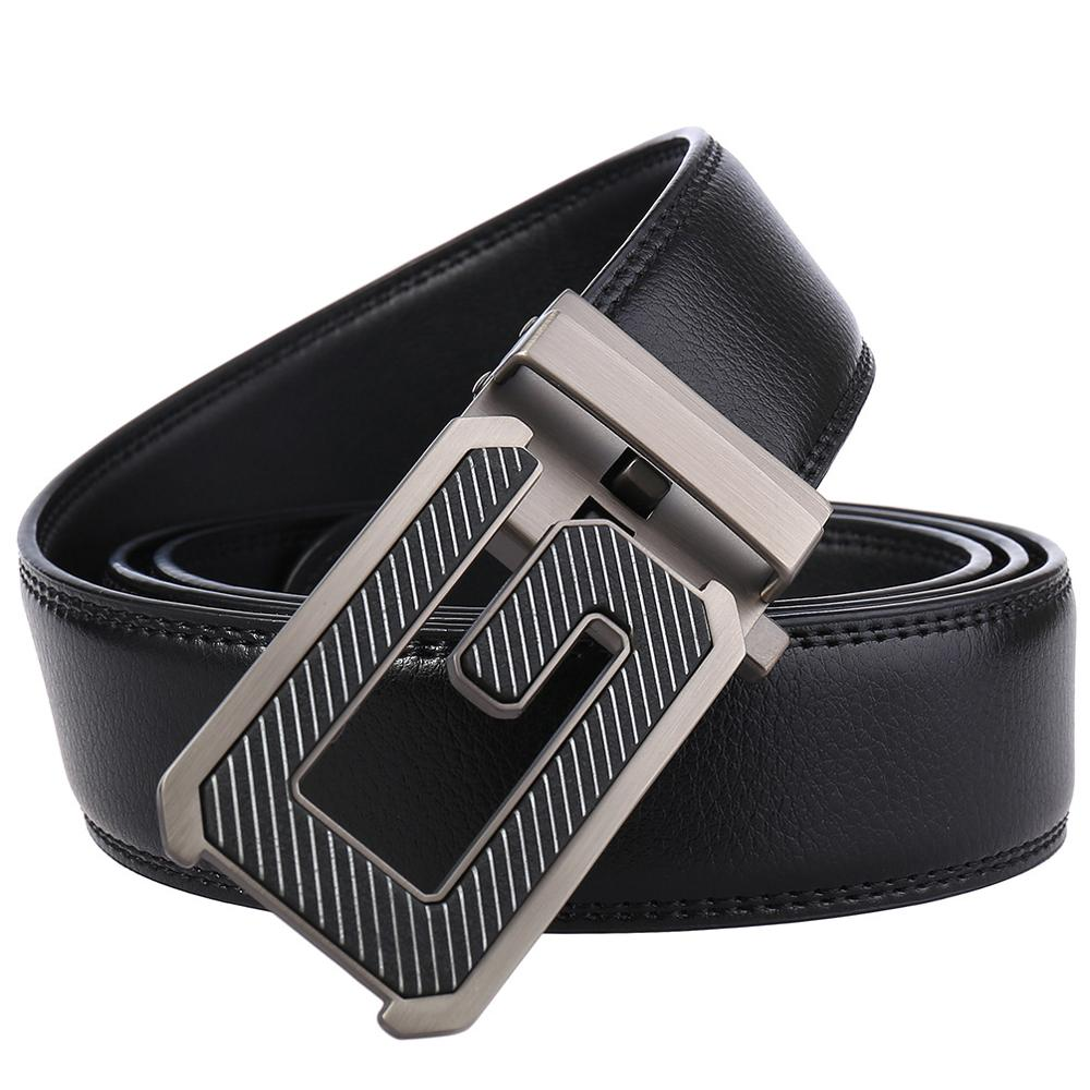 Men 39 s Quality Designer Genuine Leather Black Fashion Belts G Automatic Buckle Male Jeans Belt Apparel Accessories for Men in Men 39 s Belts from Apparel Accessories