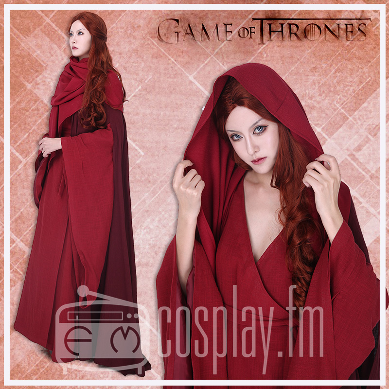 Lady Melisandre Costume Dress Red witch Game of Thrones Halloween Costume