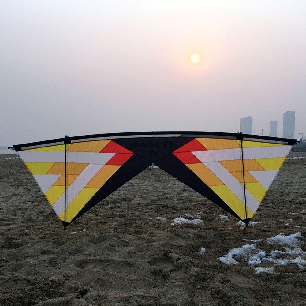 Cerf-volant professionnel 2.42 m Quad Line cerf-volant avec cerf-volant ligne ligne cerf-volant de plage ensemble volant