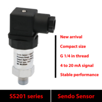 4 20mA pressure transmitter, gauge pressure 1 MPa, 10 bar, 150 psi, low cost oil water and air transducer, power 9V 12V 24V DC