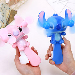 Double Fan Head Mini Cartoon Portable Fan Strong Wind Handheld Press Type Cartoon Cute Mini Fan For Children Gift