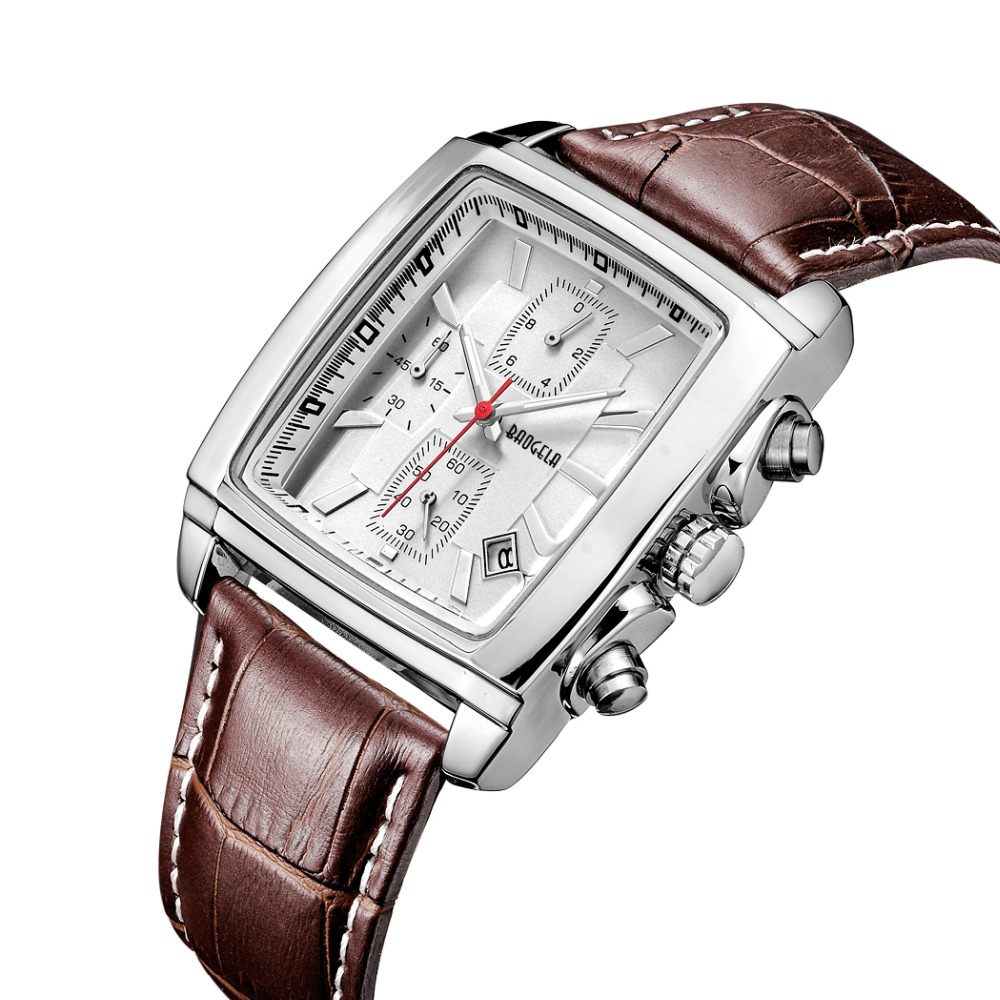 BAOGELA Men's Dress Wrist Watch Casual Classic Stainless Steel Quartz Wrist Business Wrist Business Analog Watch with 39mm Case mike 8826 men s business casual analog quartz wrist watch gold black