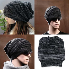 Men's Women's Knit Hip-hop Baggy Beanie Hat Fashion Winter Warm Oversized Cap