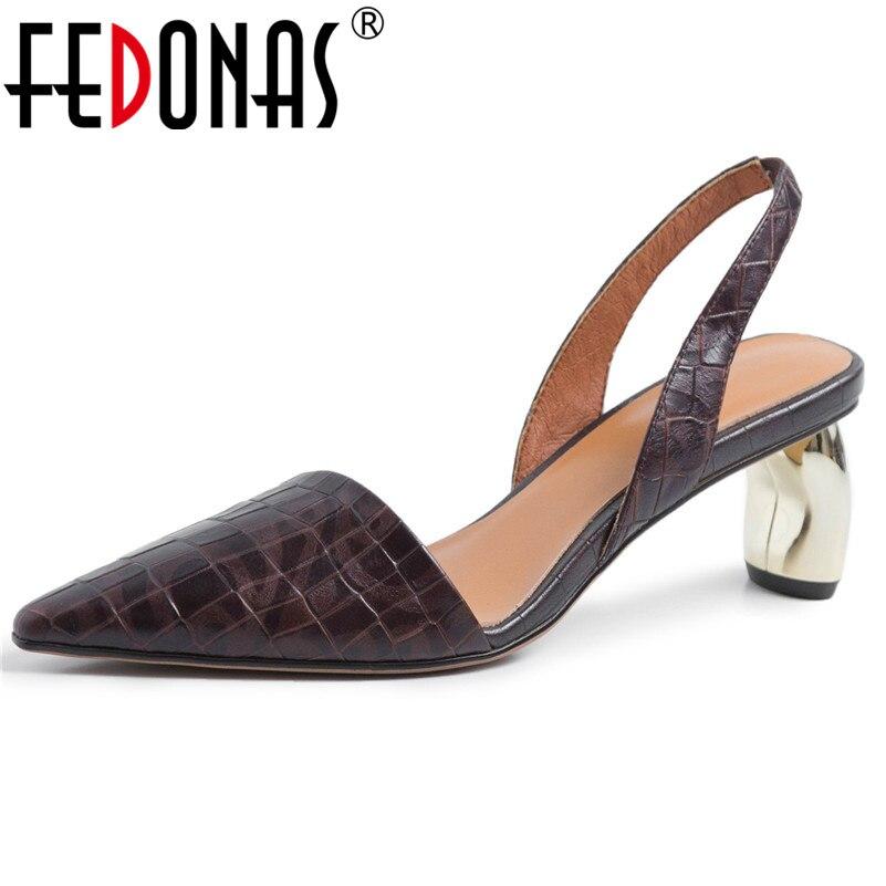 e3426563 Zapatos de tacón alto elegantes para mujer, zapatos de cuero genuino de  primavera y verano, zapatos de tacón alto para mujer