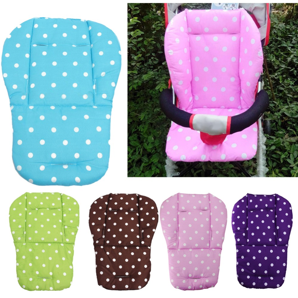 baby stroller cushion baby infant stroller seat pushchair cushion cotton mat white dot seat. Black Bedroom Furniture Sets. Home Design Ideas