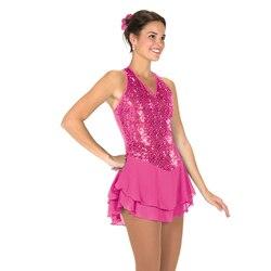 Nasinaya vestido de Patinaje Artístico de competición personalizada falda de Patinaje sobre hielo para niñas mujeres niños Patinaje gimnasia rendimiento 376