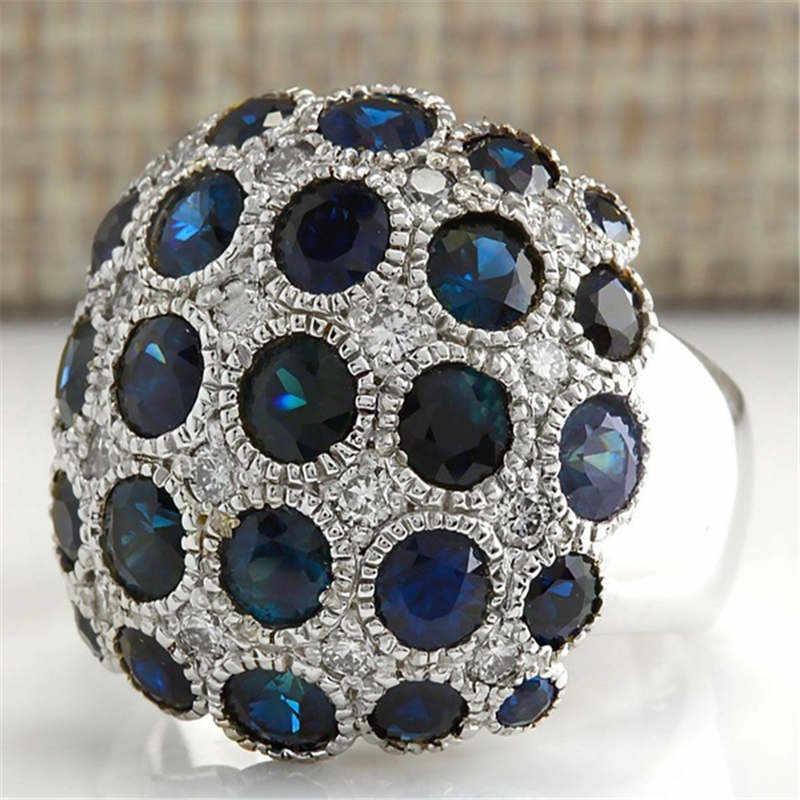 YWOSPX คุณภาพสูงหรูหรา Zircon Anel แหวนขนาดใหญ่สำหรับผู้หญิงเครื่องประดับ Anillos Bijoux หมั้นแหวนของขวัญ Y30