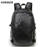 2018 VORMOR Brand waterproof 15.6 inch laptop backpack men leather backpacks for teenager Men Casual Daypacks mochila male