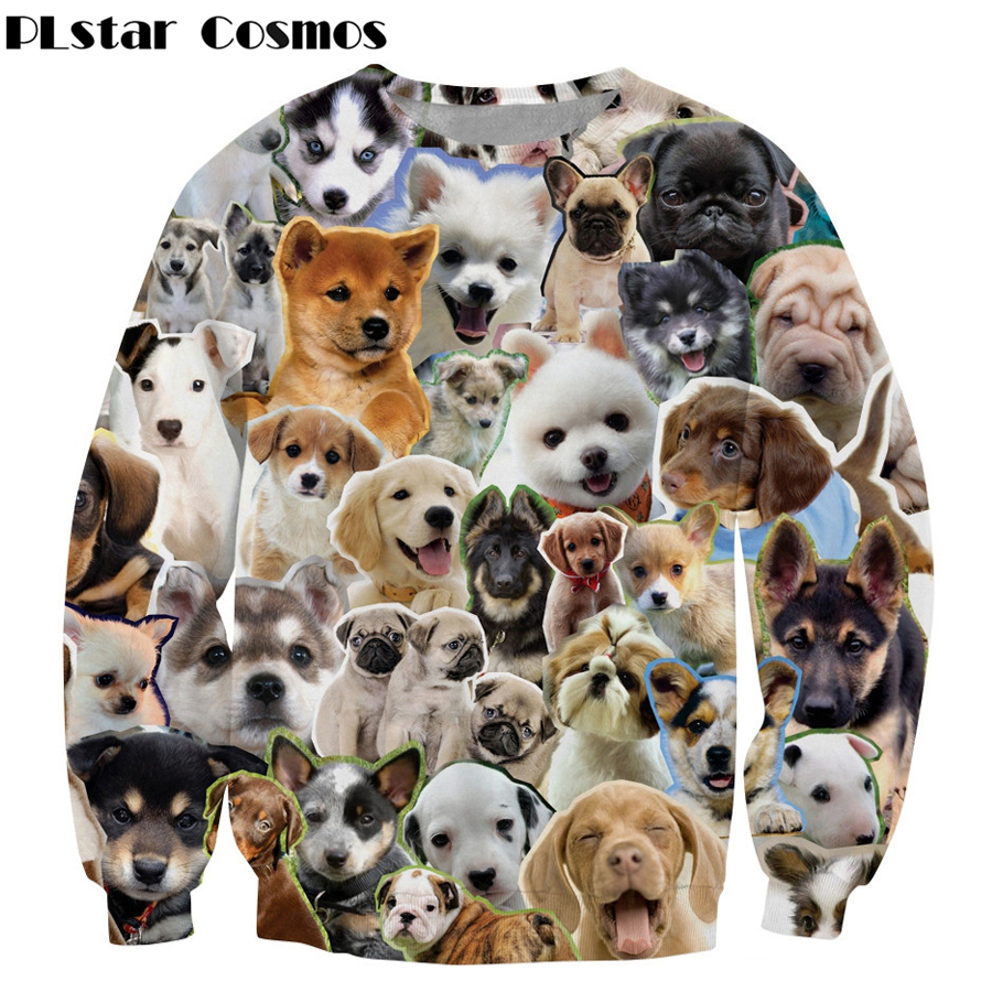 Cute Unisex Sweatshirt 3d Print Dog Cat Graphic Hoodies High Quality Brand Top Moleton Mujer/homme Animal Long Sleeve Outerwear