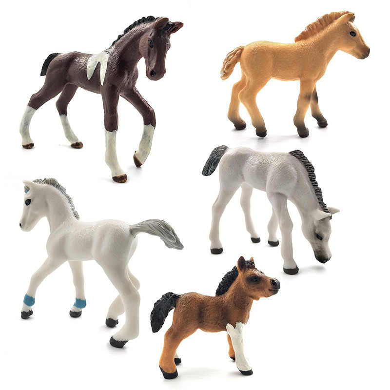 Simulation animal model horses Action Figures children home decor fairy garden decoration accessories figurine Gift For Kids toy