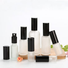 15pcs Empty White Frosted Glass Bottle Perfume Spray Bottle Gold/Silver/Black Cap Cosmetic Toner Lotion Pump Vial Glass Atomizer(China)