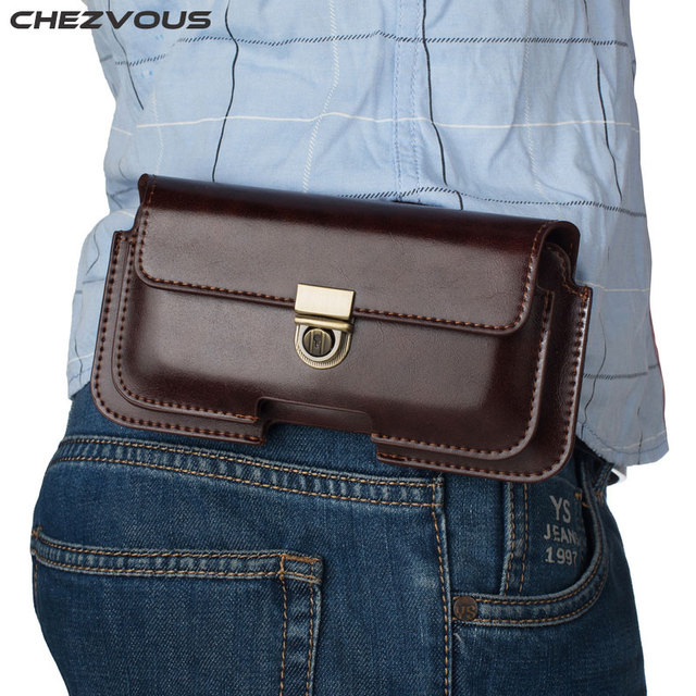 Universal Belt Clip Holster for iPhone 6 7 8 plus 10 Retro Dual Pouch Mens Waist Bag for Samsung S9 S8 plus S7 edge S6 S5 Note 8