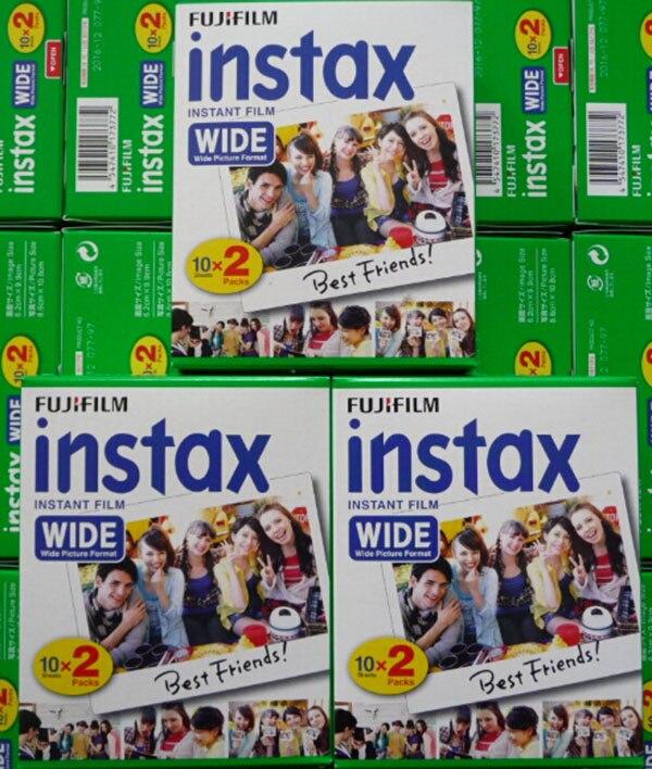 Original Fujifilm Instax Instant large Film 60 feuilles blanches Film instantané pour Polariod 300 200 210 100 500AF - 5