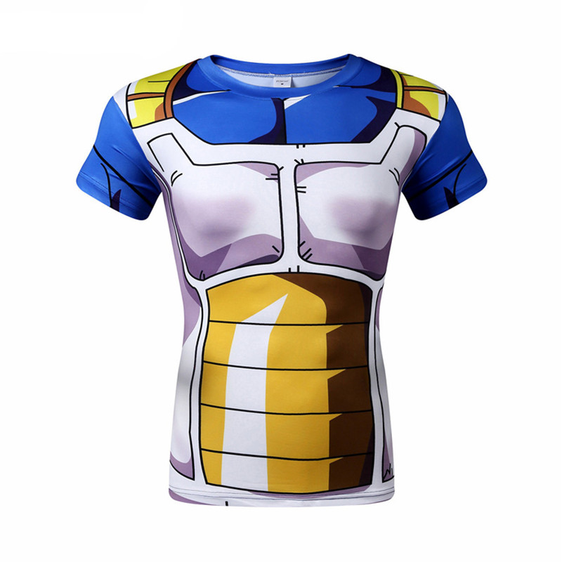 3D Printed Compression T Shirts Men Quick Drying Gym Sports Running Dragon Ball Tee Shirts 4XL Fitness Sweatshirts Summer