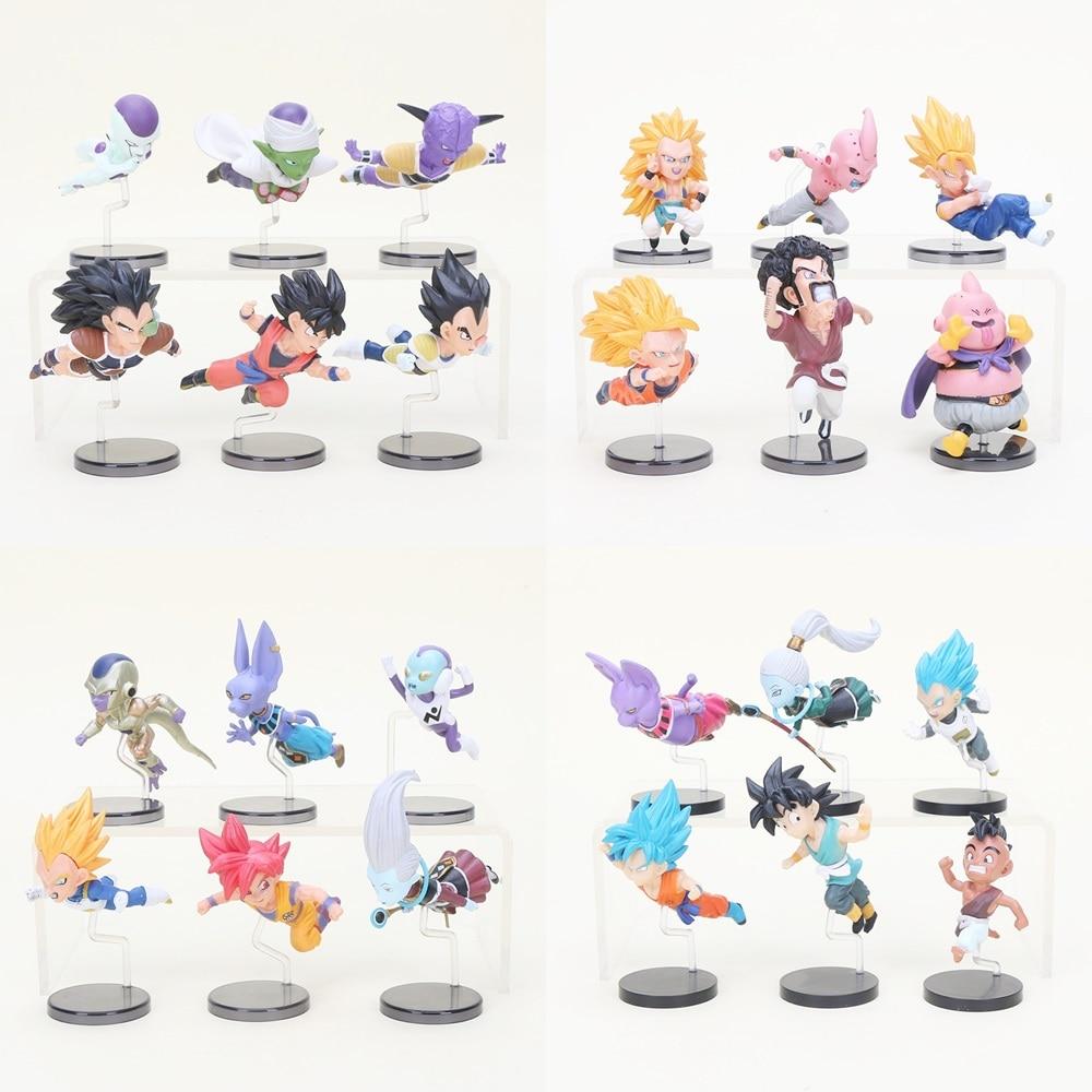 Toys & Hobbies 6pcs/set Wcf Dragon Ball Z Super Saiyan Son Gohan Goku Goten Majin Buu Vegeta Jaco Zeno Zamasu Pvc Action Figure Model Toys Dbz Removing Obstruction