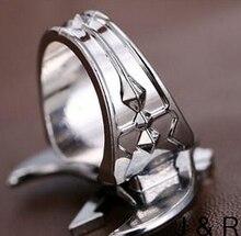 Bleach Mask Symbol Rings Angel Wings Rotatable Ring