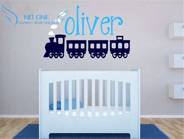 Online Shop Childrens Name And Train Vinyl Wall Decal Baby - Vinyl wall decals baby nursery