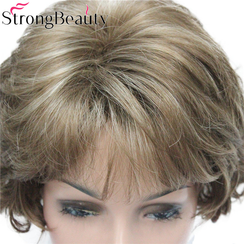 Image 4 - StrongBeauty Short Curly Synthetic Wigs Heat Resistant Capless Hair Women Wig-in Synthetic None-Lace  Wigs from Hair Extensions & Wigs