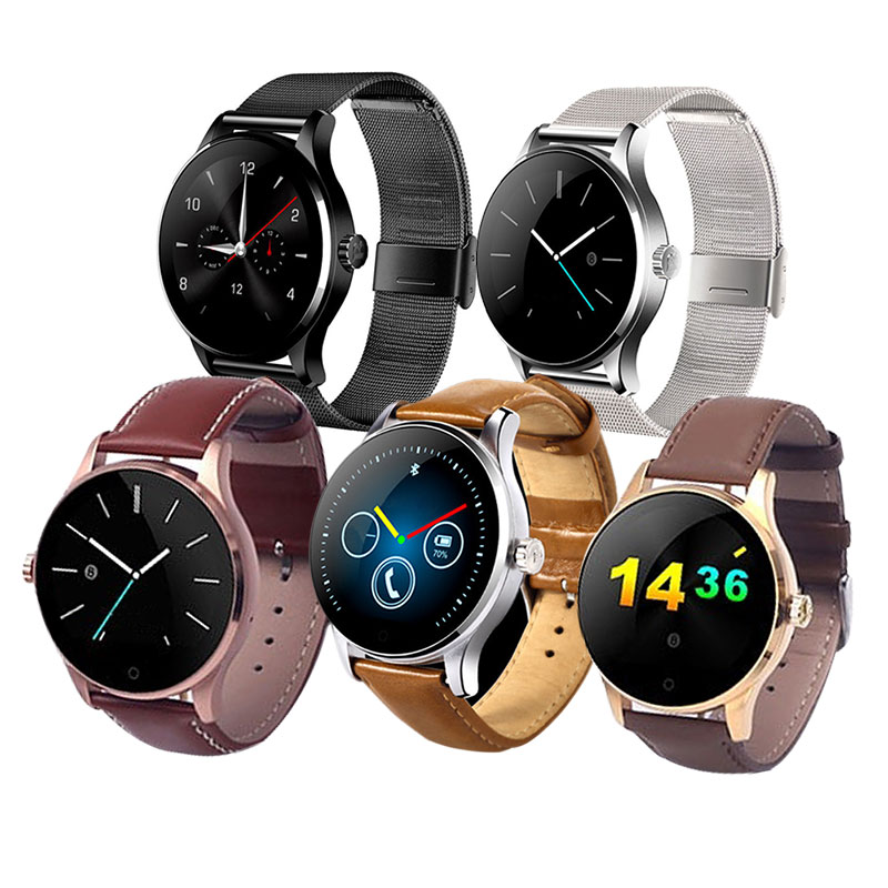 ФОТО K88H Smart Watch IPS Round Screen Support Heart Rate Monitor Bluetooth Smartwatch For Apple Hua Wei IOS Android 88 LXH