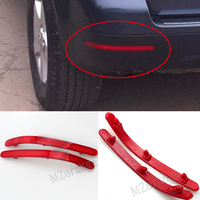 Rear Bumper Reflector Lamps Overhead Decorative Lights Red For Volkswagen For VW Touareg 2002 2010 Car