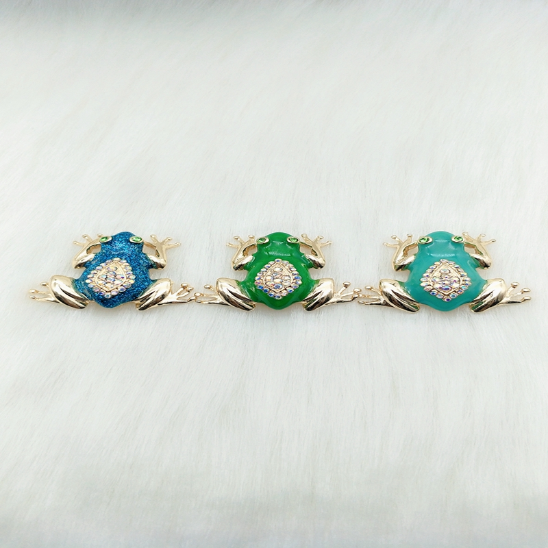 Fashion accessories oil set ShanZuan character drops alloy plating small frog brooch