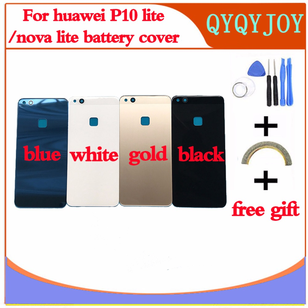 <font><b>Glass</b></font> Rear Housing Cover For <font><b>HUAWEI</b></font> <font><b>P10</b></font> Lite/Nova Lite Back Door Replcement Battery <font><b>Case</b></font>,Adhesive Sticker <font><b>Glass</b></font> Battery Cover image