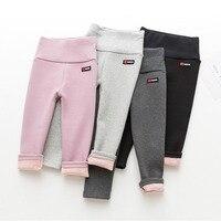 2018 Winter Kids Leggings Warm Pants For Girls Children's Thick Leggings Girls Winter Flannel Thicker Children's Trousers