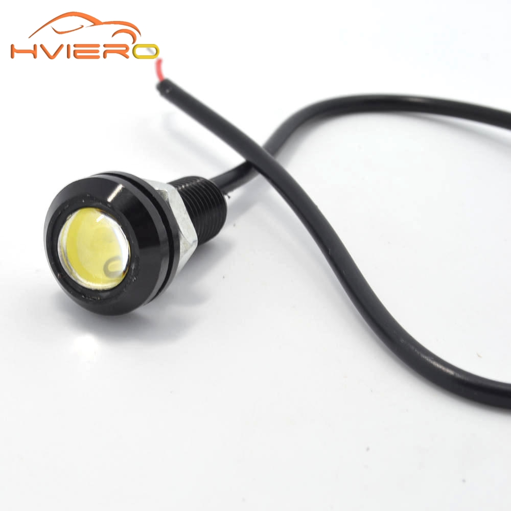2pcs 18mm Auto Car Led Eagle Eye DRL Daytime Running Lights motorcycle Backup Reversing Parking Signal Lamps Waterproof Fog Bulb high power daytime running driving light eagle eye drl car lamps condenser lens for auto car white drl eagle eye 10w led lens