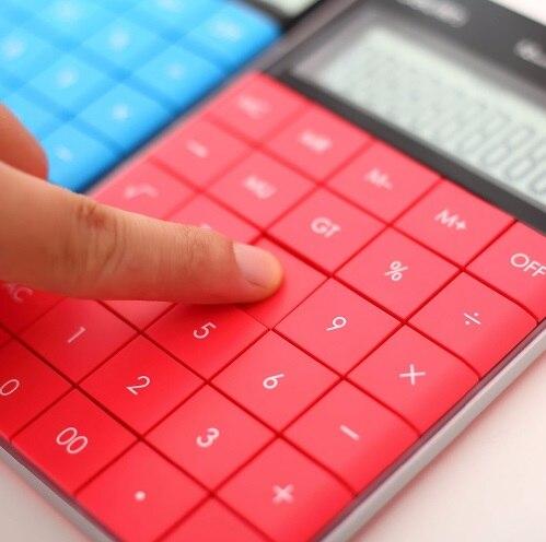 Мини Ручной Новые 12 цифр Дисплей карманный электронный расчета калькулятор двойной Мощность студентов Детский подарок