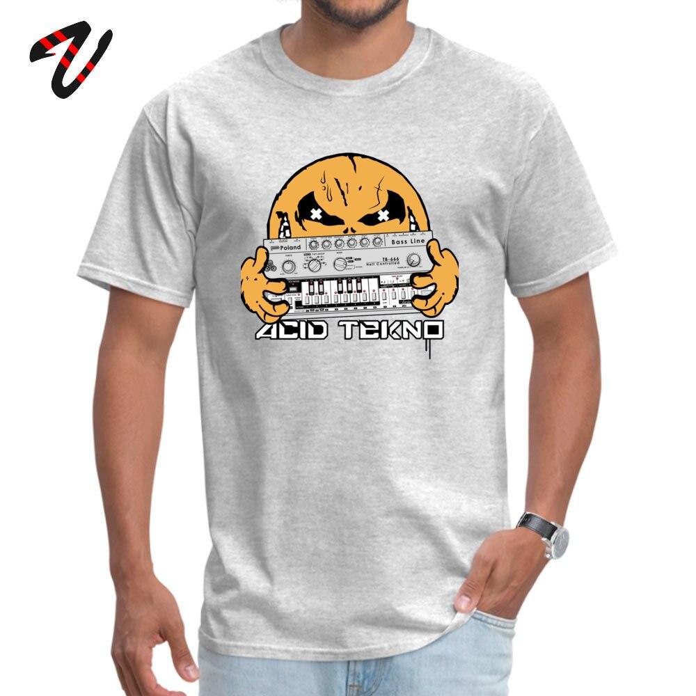 Fashion Men Tees acid tekno Casual T Shirts All Cotton Short Sleeve Design Tee Shirts Crew Neck Free Shipping acid tekno -3319 grey