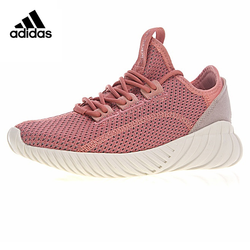 Adidas Tubular Doom Sock PK Women's Running Shoes, Pink, Shock Absorption Wear-resistant Breathable Lightweight BY9336 цена