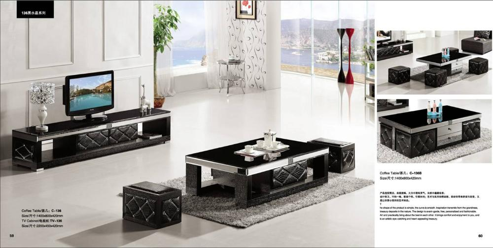 Living Room Sets With Tv Occasional Chairs For South Africa Us 763 0 Crystal And Back Set Coffee Table Cabinet Smart House Furniture 2 Model Of Yq136 In