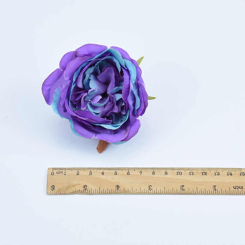 9 سنتيمتر الفاوانيا الحرير زينة عيد الميلاد للمنزل الزفاف اكسسوارات الزفاف التخليص النباتات الاصطناعية وهمية الزهور البلاستيكية