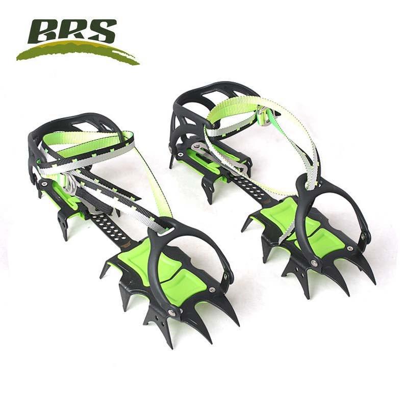 Vente chaude Professionnel Édition Quatorze Dents Crampons À Glace Hiver Neige Boot Couvre-chaussures Pince BRS-S1A/BRS-S1B