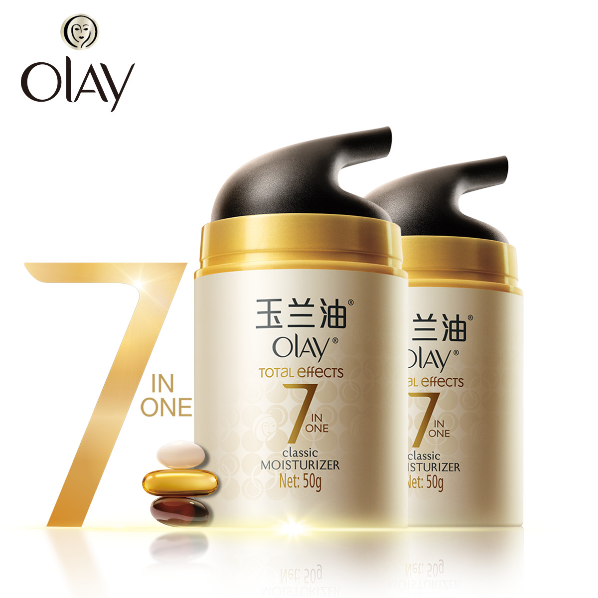 Olay Total Effects Moisturizing Cream 50g Light Pattern Firming Day Normal Spf 15 8g Classic Moisturizer