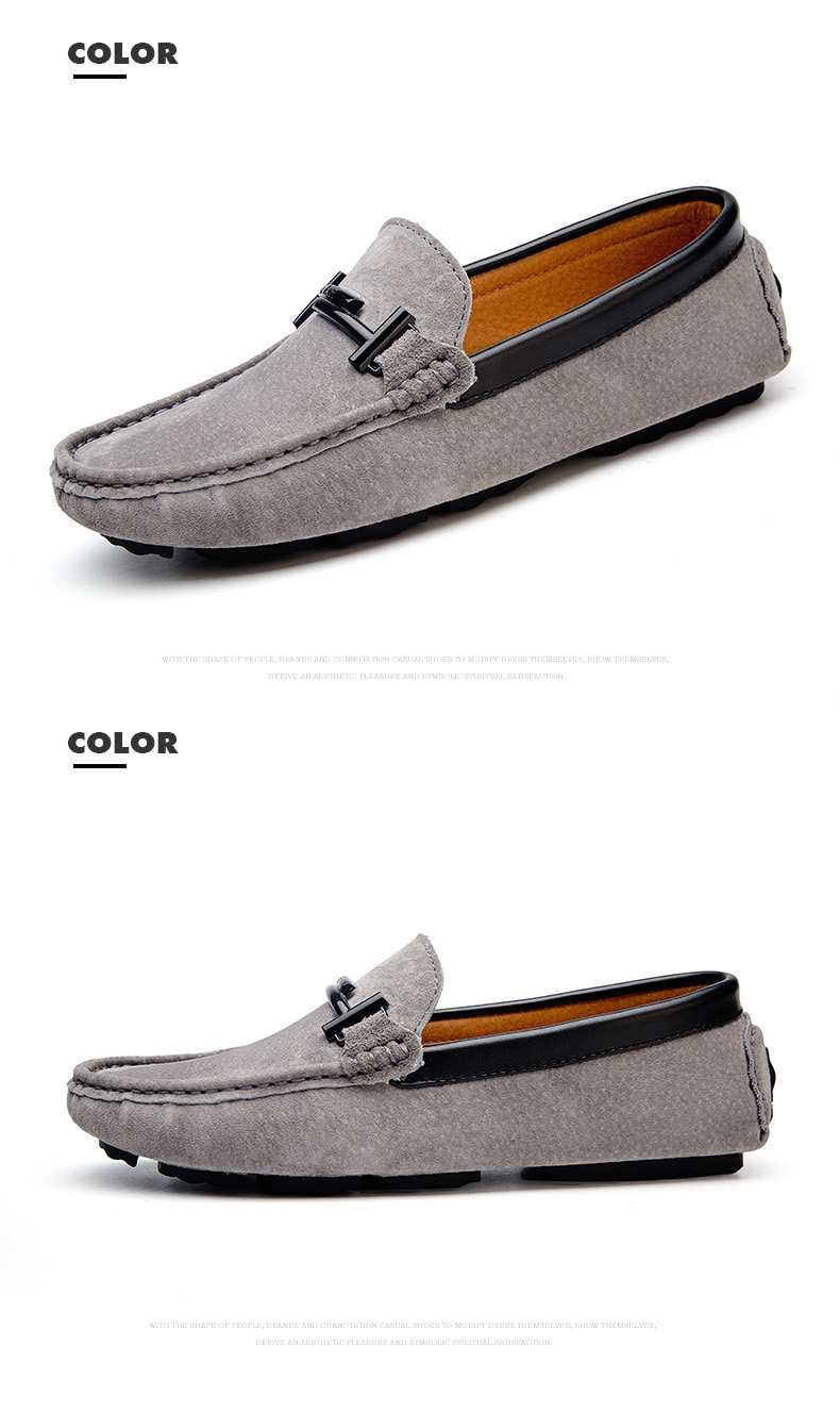 Men's Top Brand Fashion Casual Soft Loafers Suede Boat Shoes Male Footwear Adult Drivings Summer Moccasins Hommes Plus Size 11 70